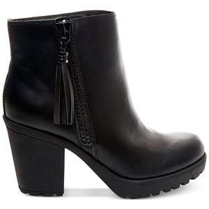 Madden Girl • Black Platform Ankle Booties